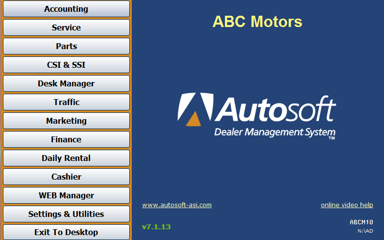Autosoft DMS Demo - Autosoft DMS