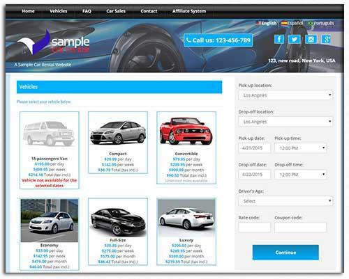 Car Rental Solutions Demo - Car Rental Reservation System