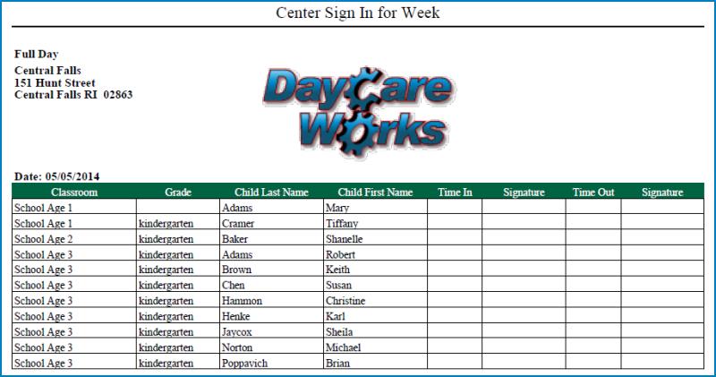DayCare Works Demo - Daycare Works