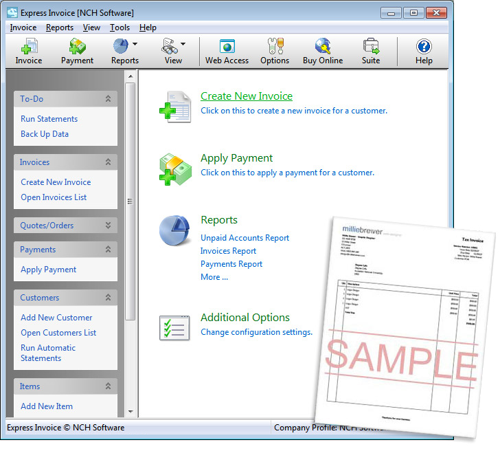 Express Invoice Demo - Express Invoice