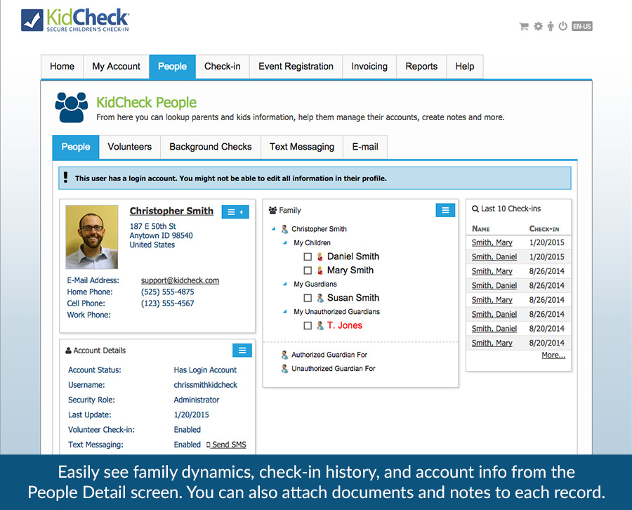 Children's Check-in Software Demo - KidCheck