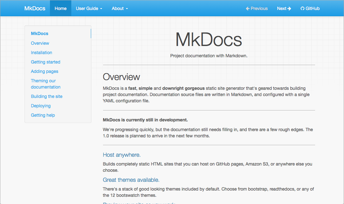 MkDocs Demo - MkDocs