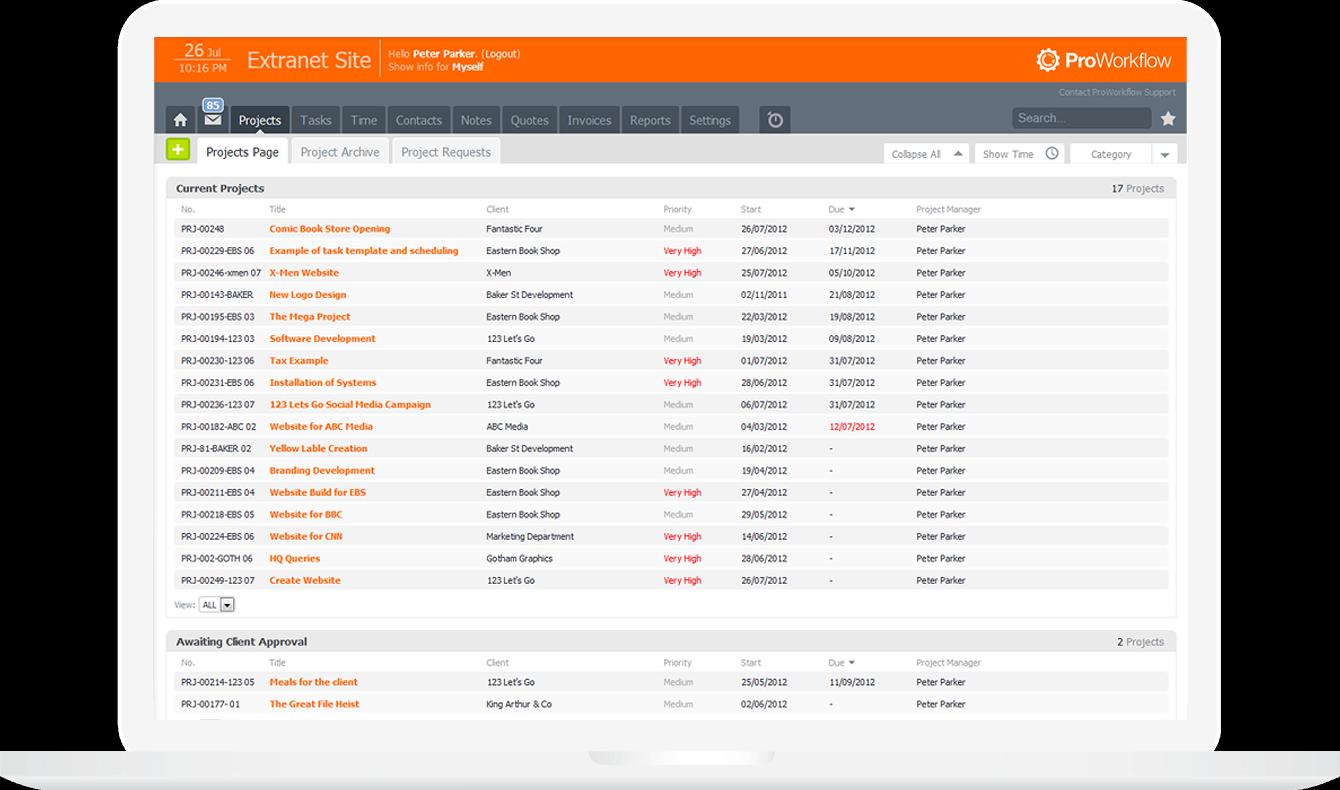 Proworkflow screenshot1