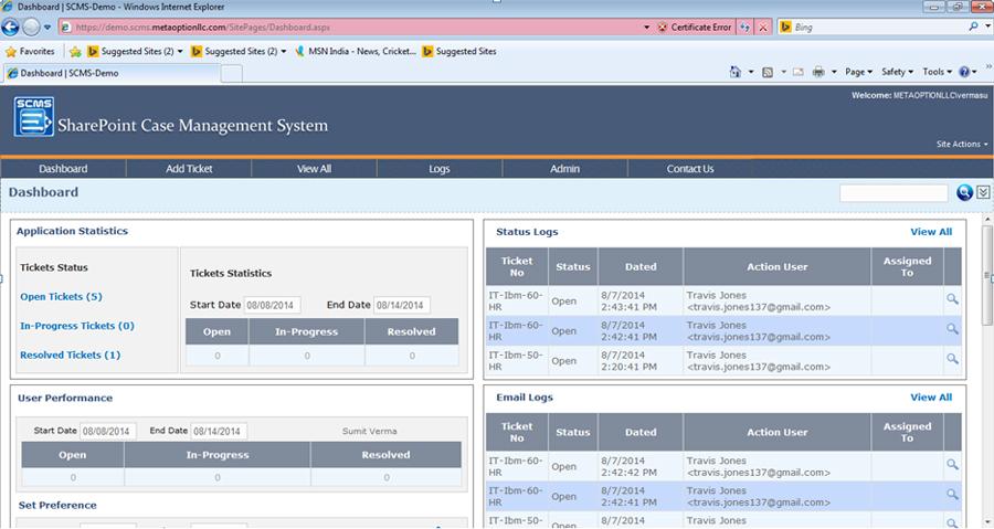 SharePoint Case Management System (SCMS) Demo - SharePoint Case Management System (SCMS)