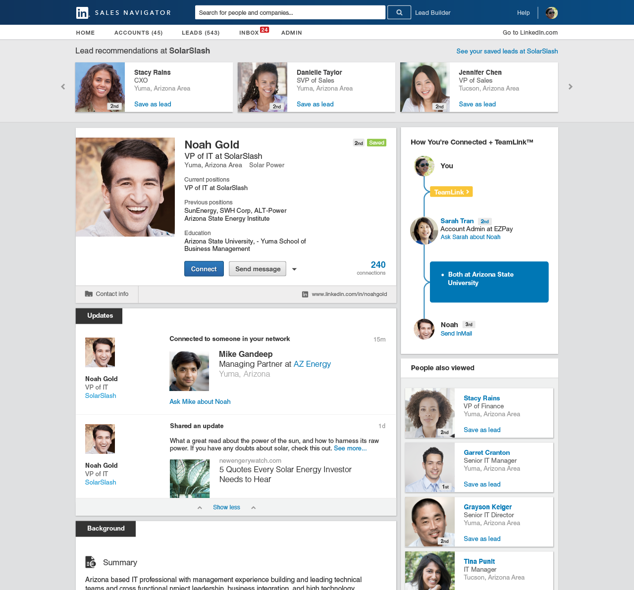 LinkedIn Sales Navigator Demo - Shared Connections