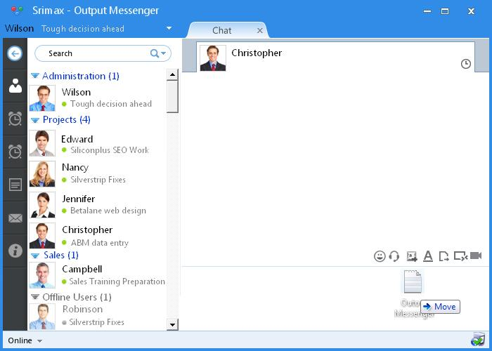 Output Messenger Demo - File Transfer