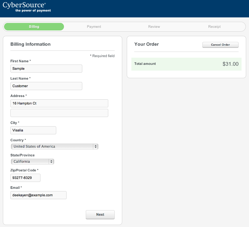 CyberSource Payment Management Platform Demo - CyberSource+Screenshot.png
