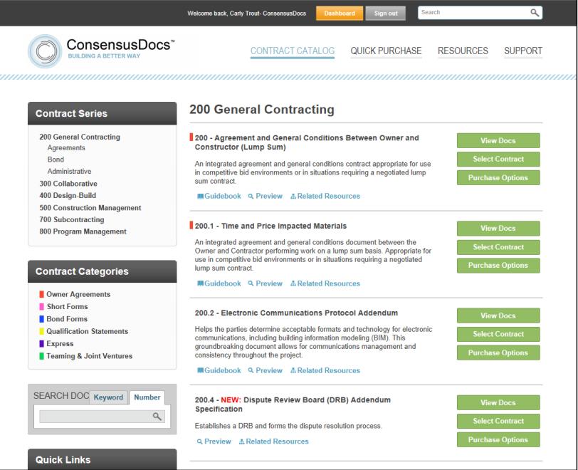ConsensusDocs Demo - ConsensusDOCS
