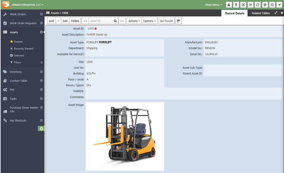 eMaint CMMS Demo - Asset Management