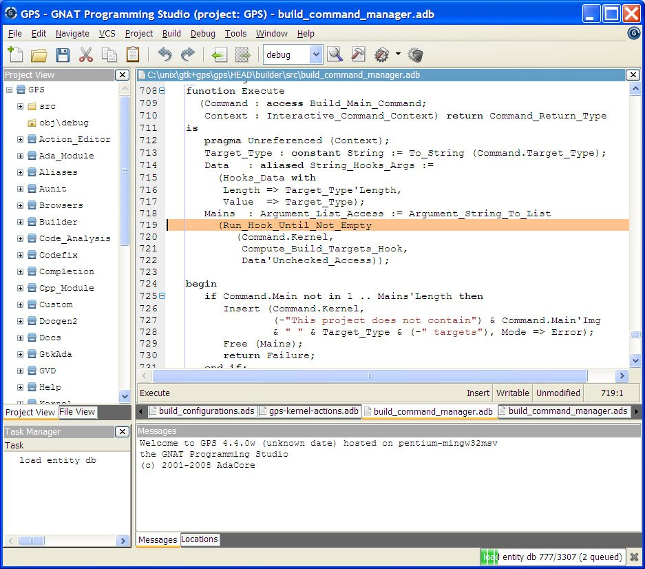 GNAT Programming Studio (GPS) Demo - GNAT Programming Studio (GPS)