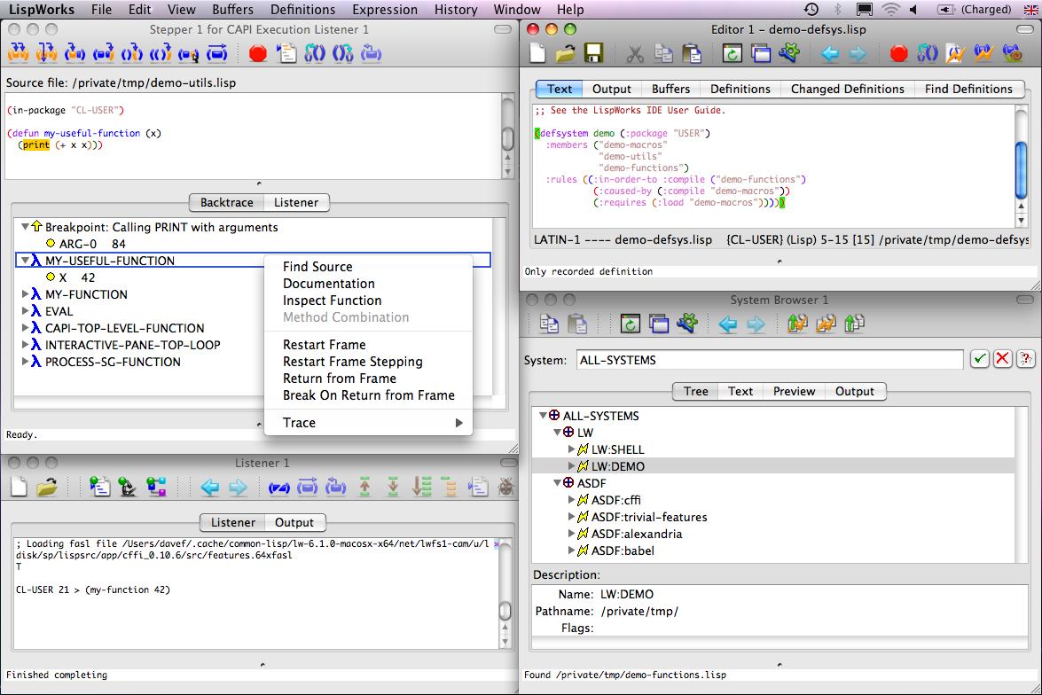 LispWorks Demo - LispWorks