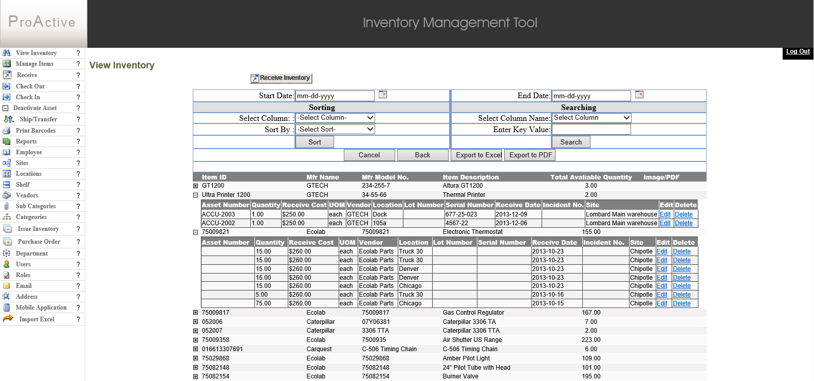 ProActive Inventory Manager Demo - ProActive Inventory Manager
