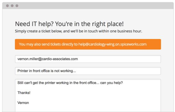 Spiceworks Help Desk Demo - Help Users Help Themselves