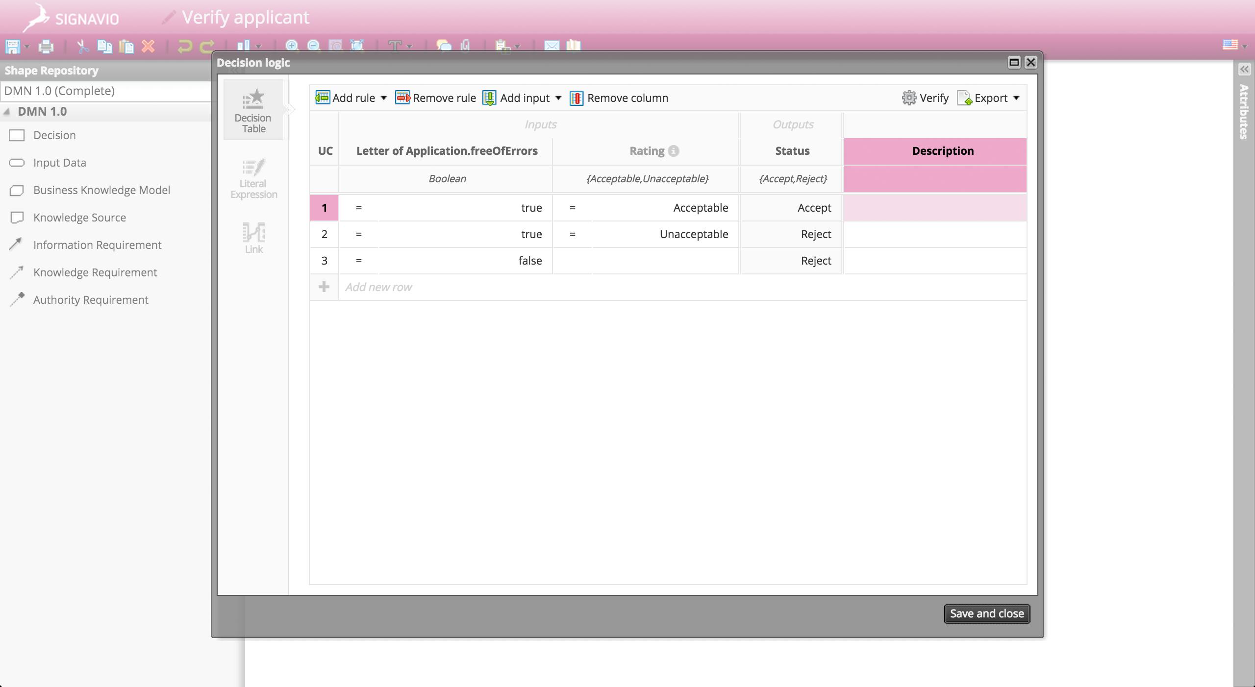 Process Manager Demo - Signavio Decision Manager