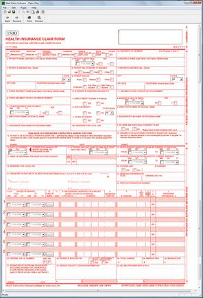Old Fashioned image for 1500 claim form printable