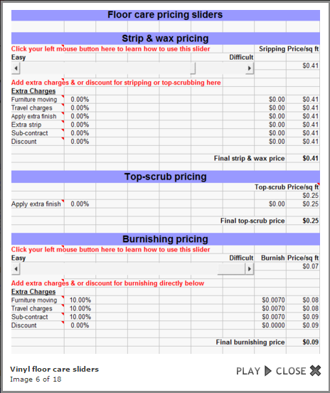 Janitorial Bidding Software Demo - Janitorial Bidding Software