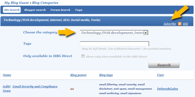 Myblogguest Demo - Myblogguest