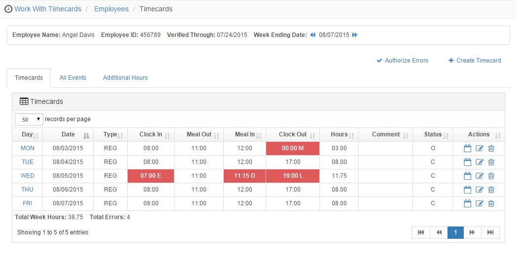 Optimum Payroll Demo - Optimum Time & Attendance