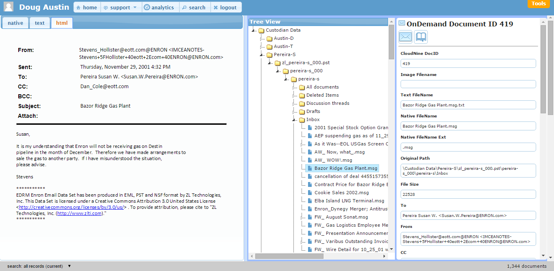 CloudNine Demo - Folder View