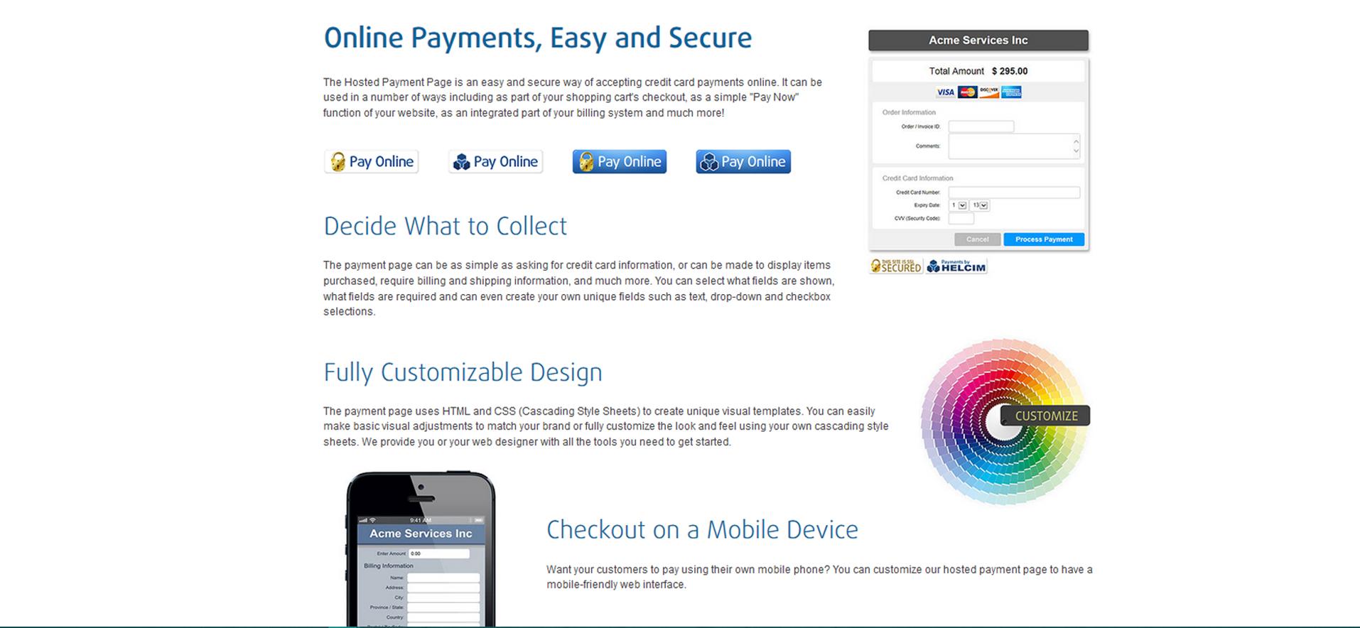 Helcim Commerce Demo - Virtual Terminal Features