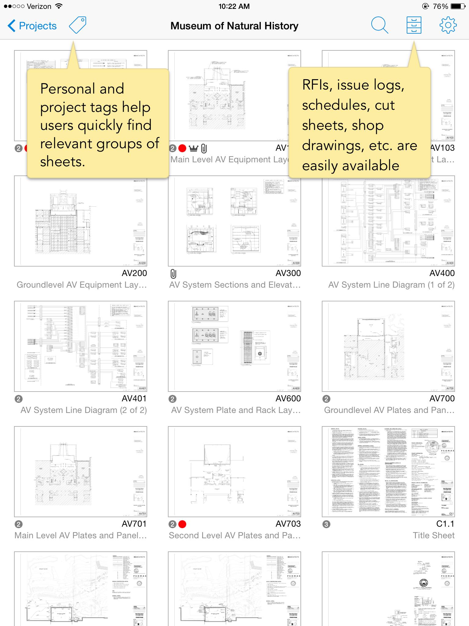 PlanGrid Demo - Sheet-Based Navigation