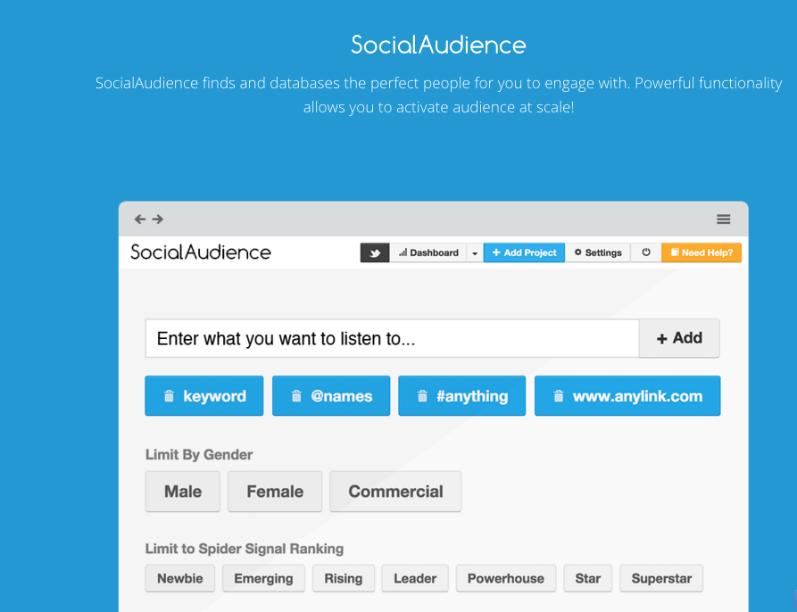 SocialQube Demo - Track & Database conversations and links shared