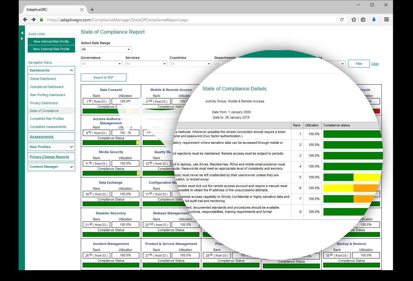 AdaptiveGRC Demo - AdaptiveGRC Compliance Manager