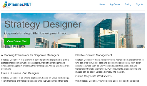 Strategy Designer Demo - Strategic Business Plan Software
