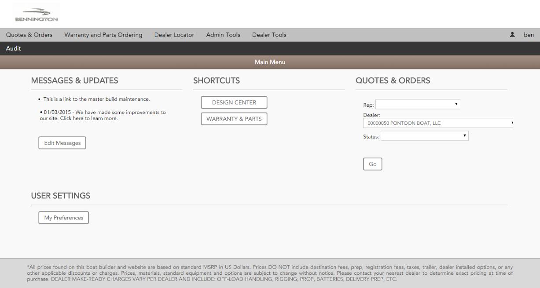 Verenia Demo - Warranty, Parts & Updates