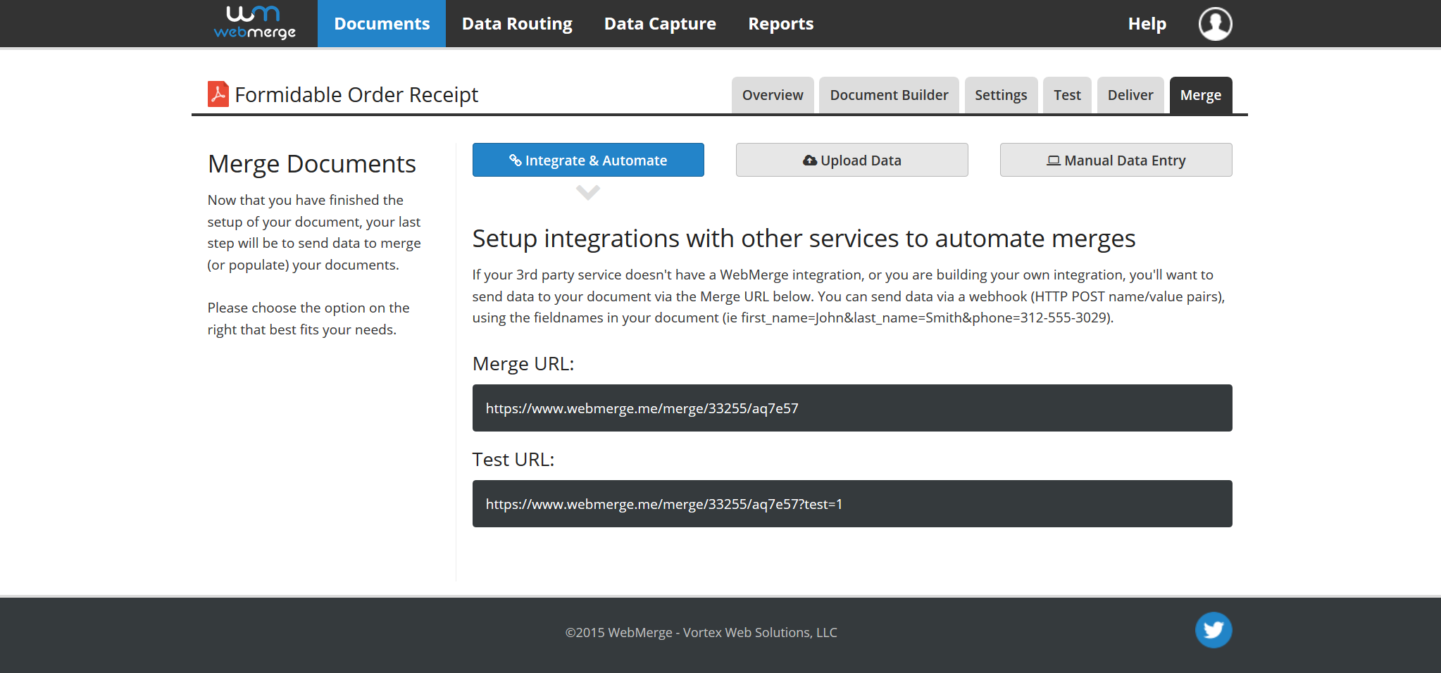 WebMerge Demo - Integrate with Ease