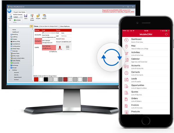 Resco Mobile CRM Demo - Configure to your needs