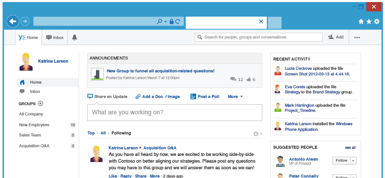 Yammer Software | G2 Crowd