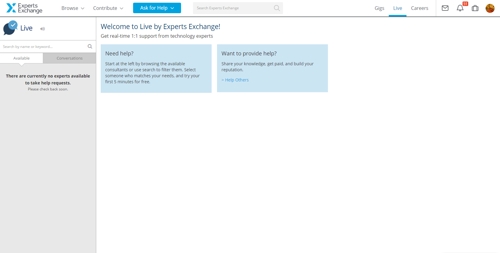 Experts Exchange Demo - Live