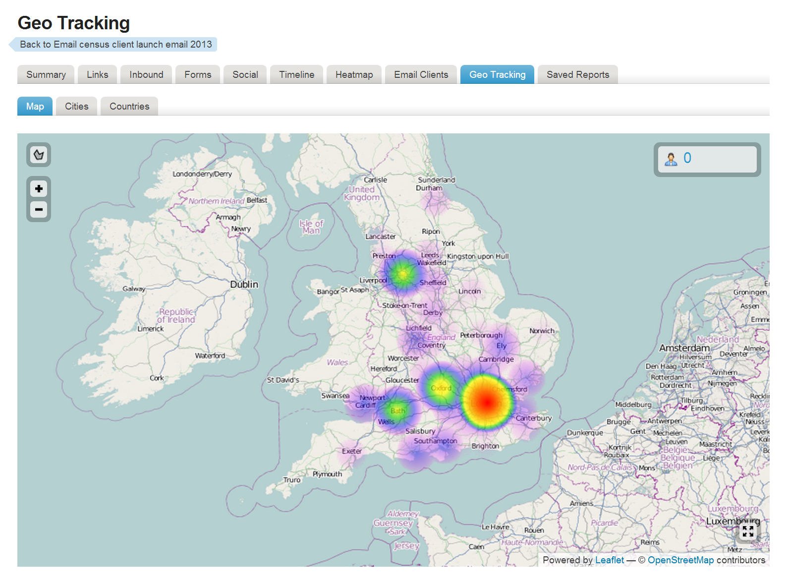 Adestra Demo - Geo Tracking