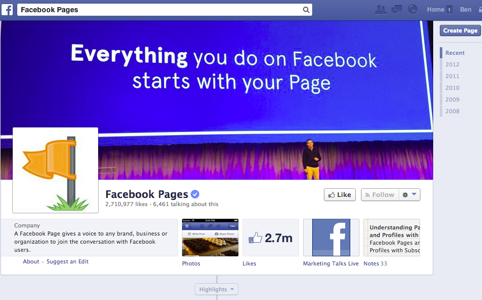 Facebook Pages Manager Demo -