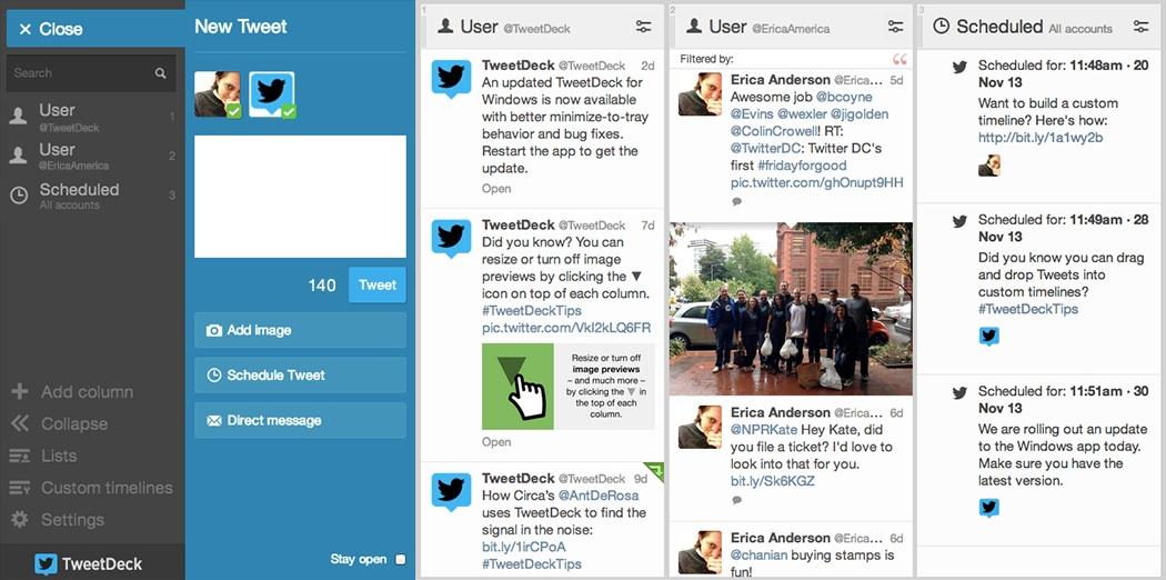 TweetDeck Demo -