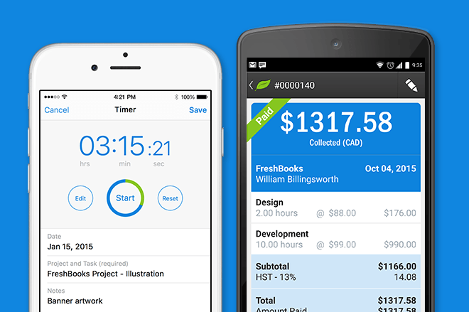 FreshBooks Demo - Mobile Time & Invoice Tracking
