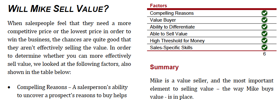 Sales Candidate Assessment Demo - Value Seller