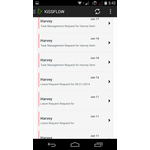 KiSSFLOW - BPM & Workflow Software Mobile Apps Screenshot