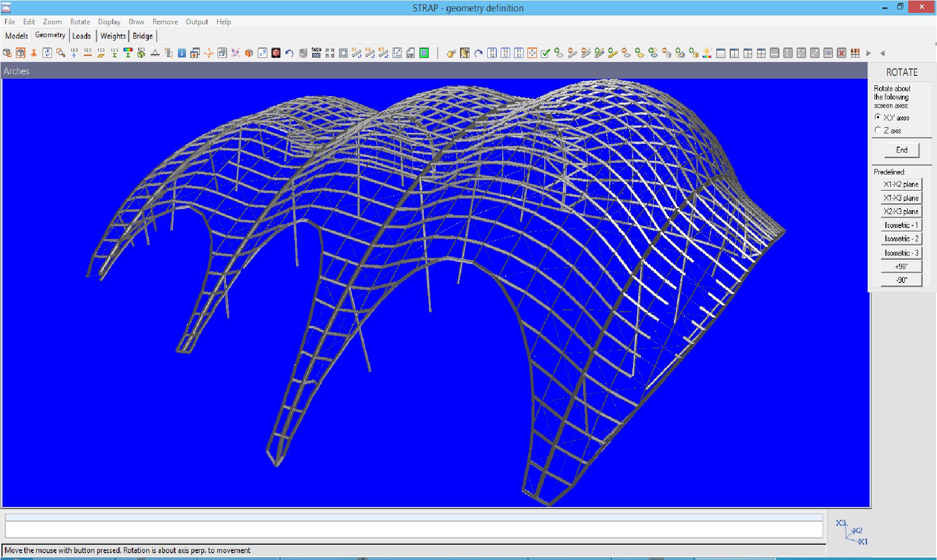 ATIR STRAP Demo - 3D Steel arches