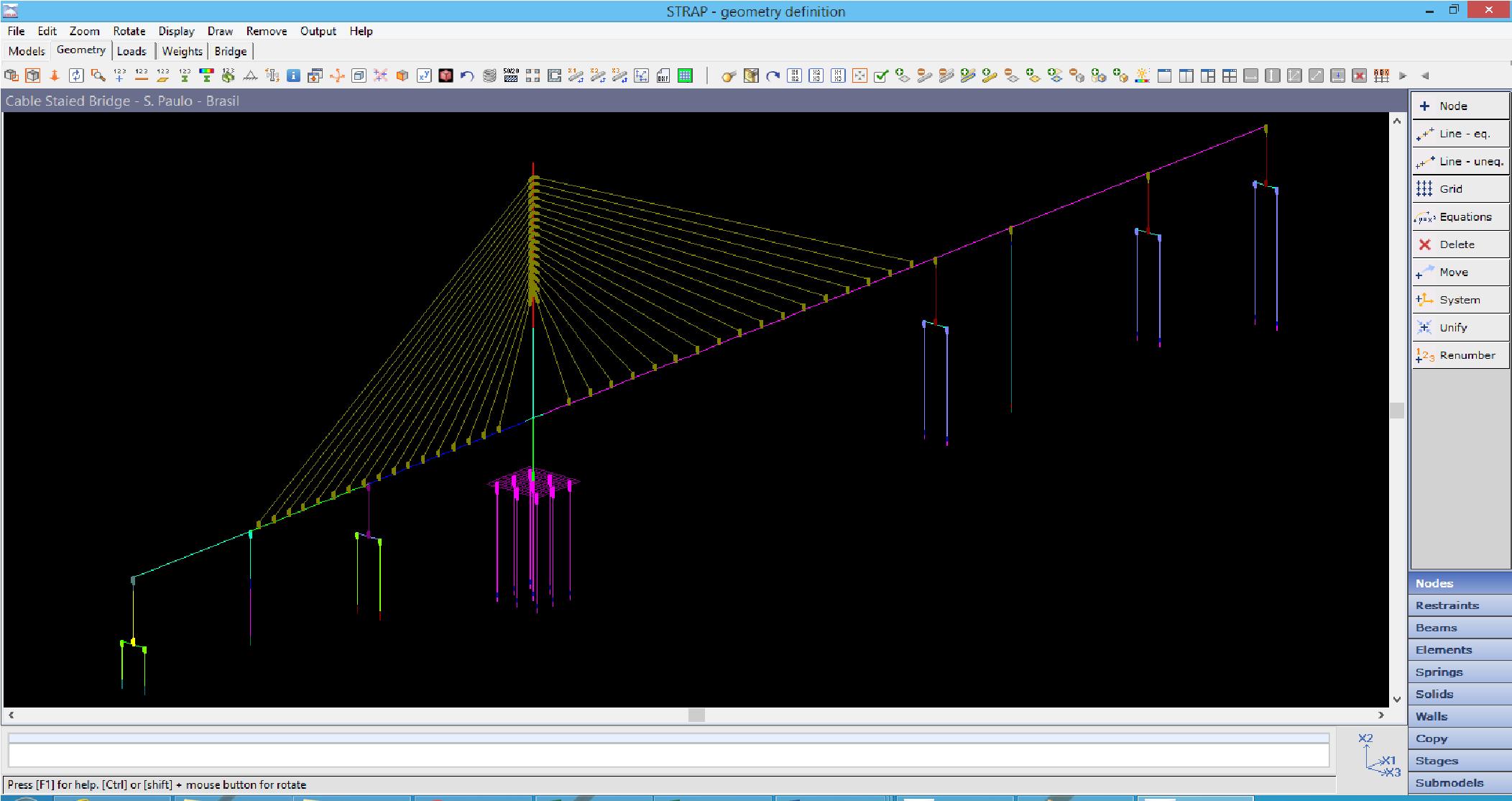 ATIR STRAP Demo - Cable Staied Bridge - S. Paulo - Brasil