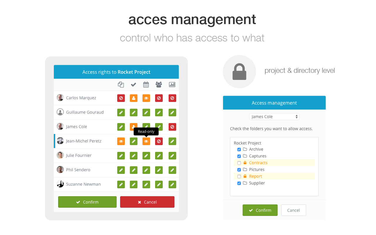 Wimi Demo - Access Rights Management