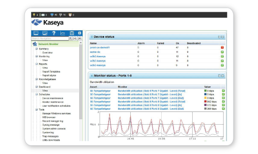 Kaseya VSA Demo - Monitor Network Performance