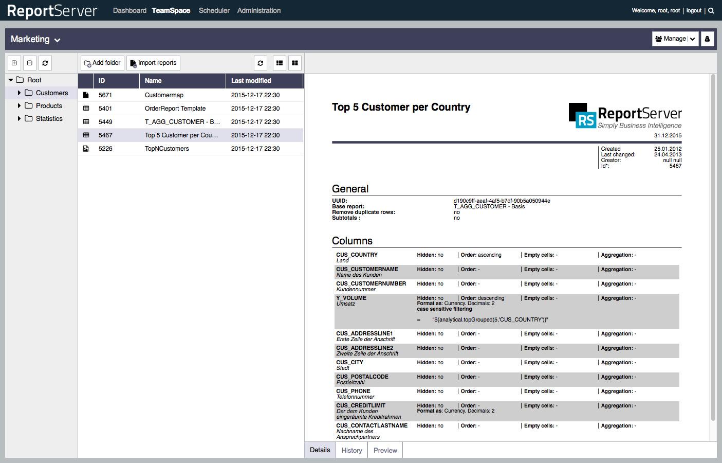 ReportServer Demo - The TeamSpace