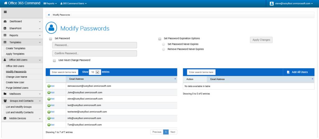 Kaseya 365 Command Demo - Password Management