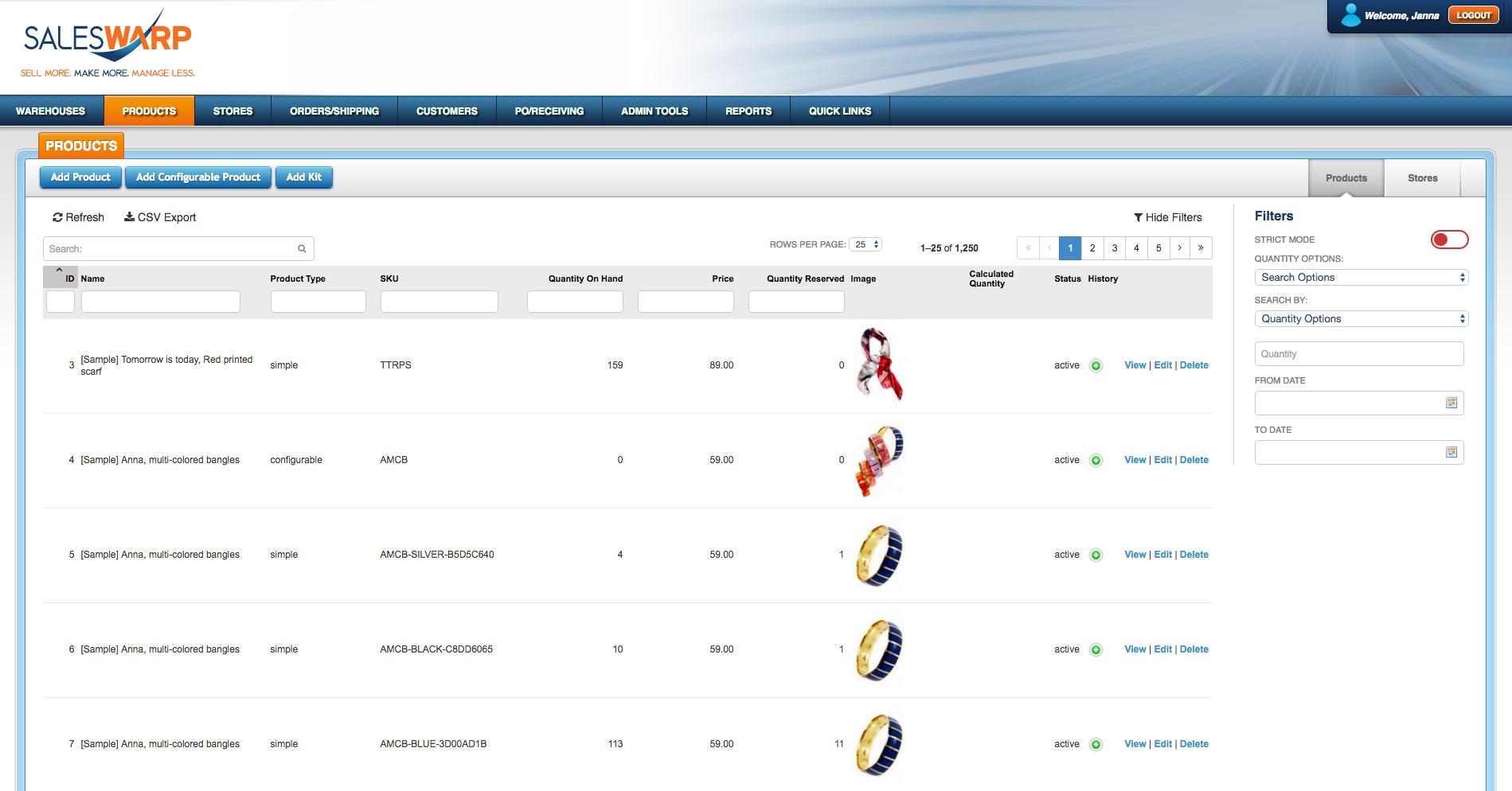 SalesWarp Demo - Product Information