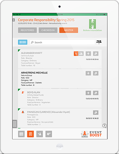 Eventboost Demo - Guest check-in with iPad App