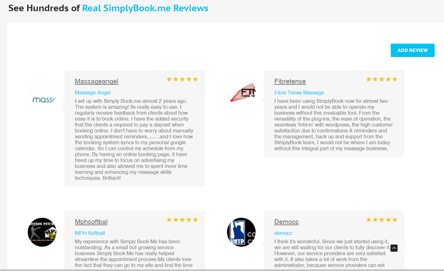 SimplyBook.me Demo - SimplyBook Reviews