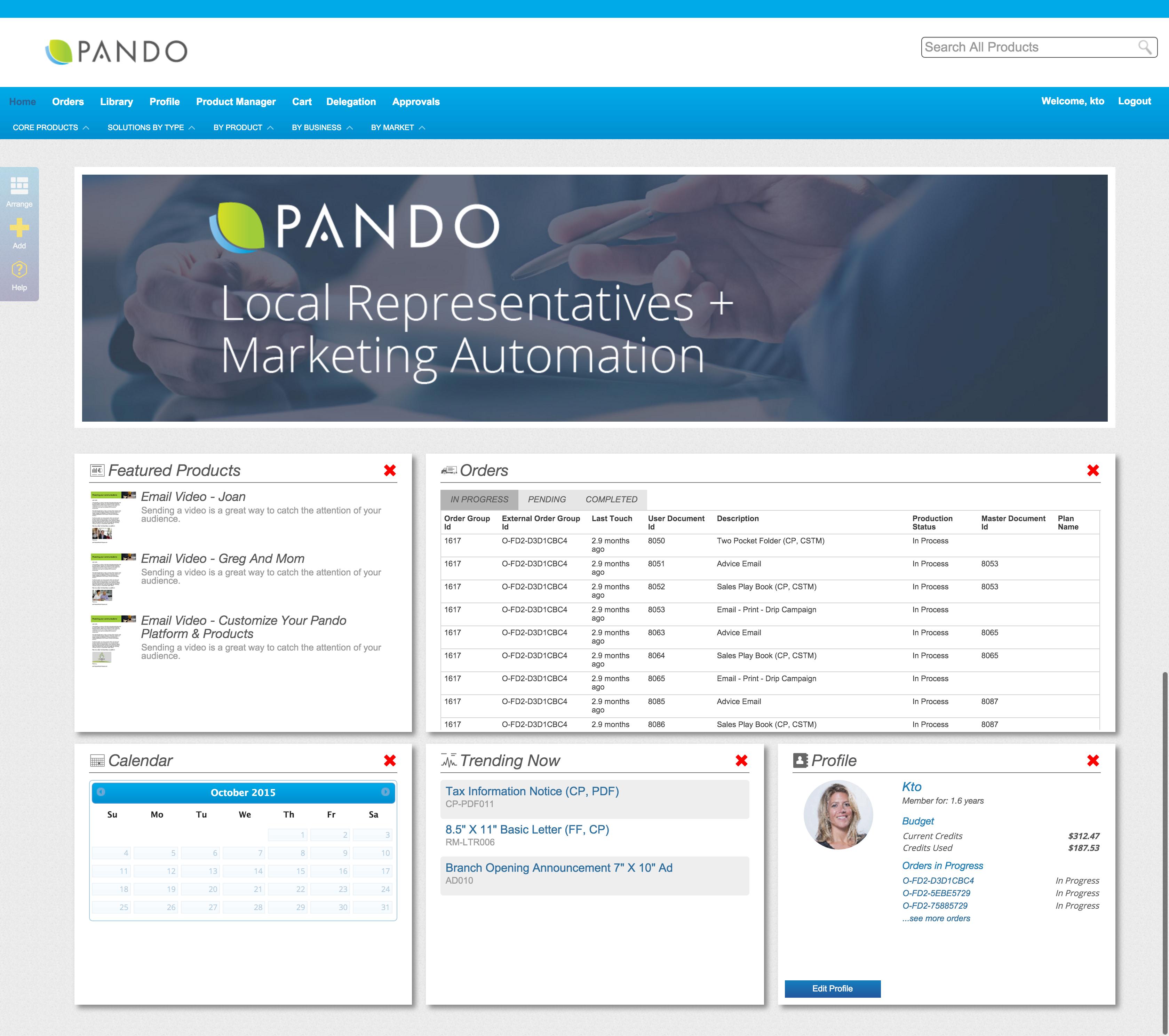Pando Demo - Pando Platform Homepage