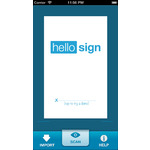 HelloSign Mobile Apps Screenshot